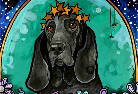 Basset Hound Pet Portrait by RobiniArt