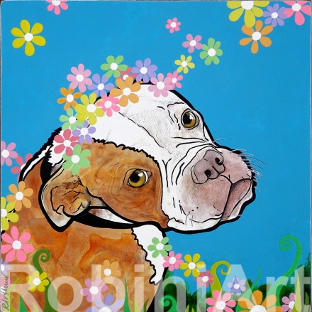 Pit Bull Painting RobiniArt Robin Arthur 2018