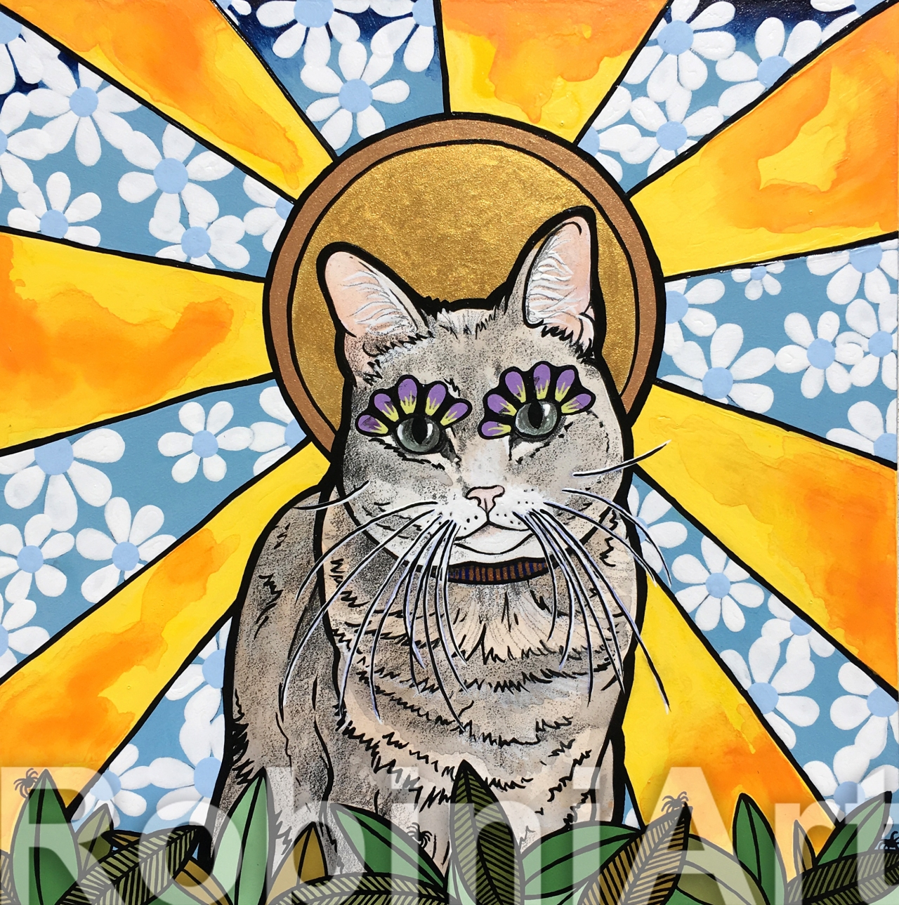 RobiniArt Pet Portrait Cat Eowyn