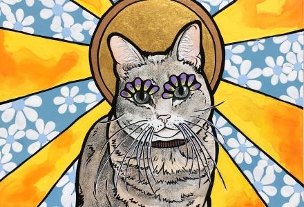 RobiniArt Pet Portrait Cat Eowyn
