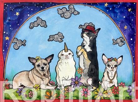 Chihuahua Dog Portrait Art RobiniArt 2018