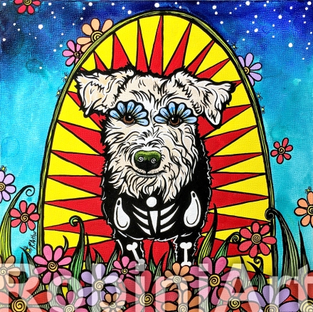 Custom Dog Portrait Terrier RobiniArt