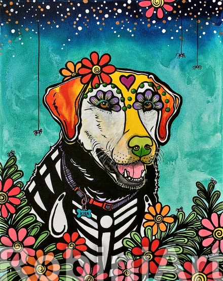 Custom Pet Portrait Labrador Retriever RobiniArt