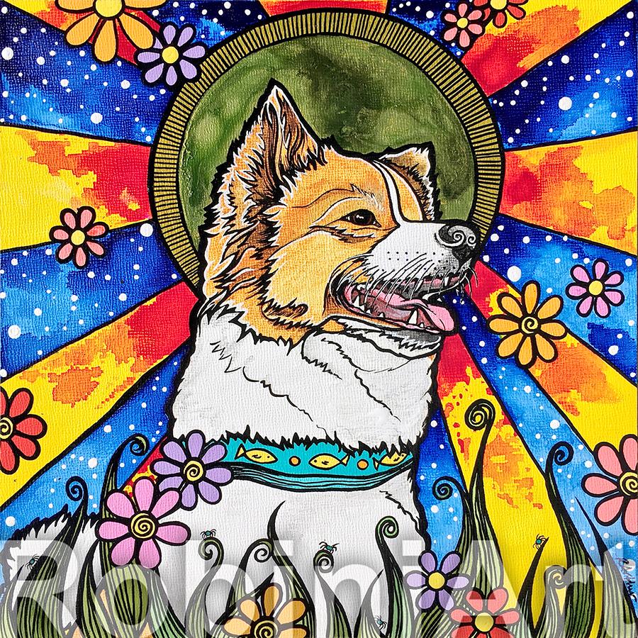 Custom Pet Portrait RobiniArt Pomeranian Keiki