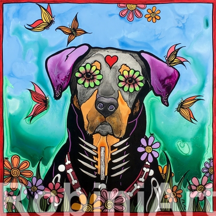 Pet Portrait RobiniArt Mixed Breed Dog 2018