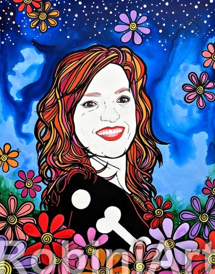 RobiniArt Custom Portrait Redhead Kate