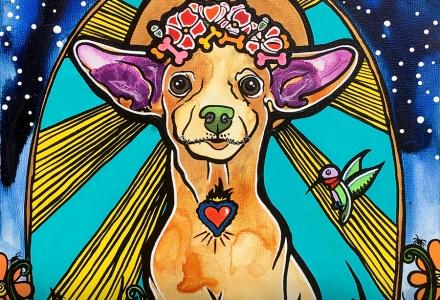 RobiniArt Pet Portrait Chihuahua Skippy