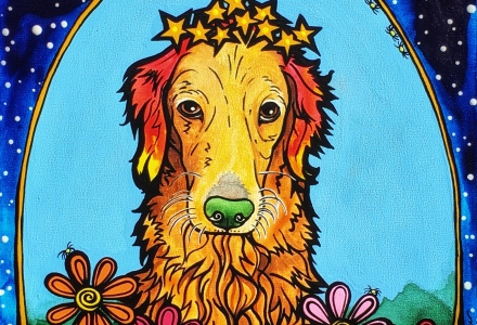 RobiniArt Golden Retriever Portrait