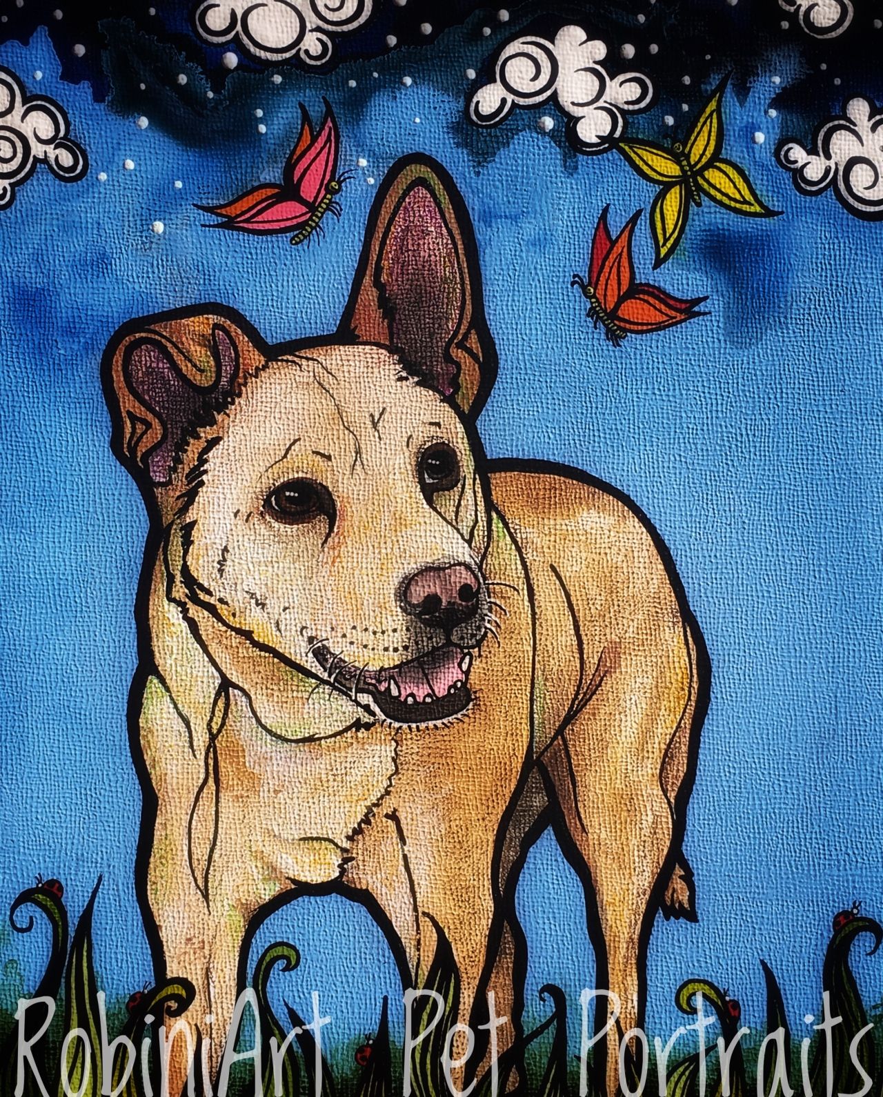Carolina Dog by RobiniArt Pet Portraits