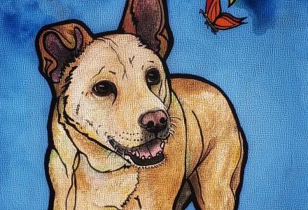 Carolina Dog by RobiniArt Pet Portraits