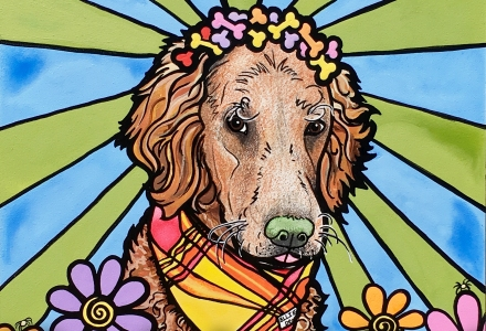 RobiniArt Golden Retriever Pet Portrait