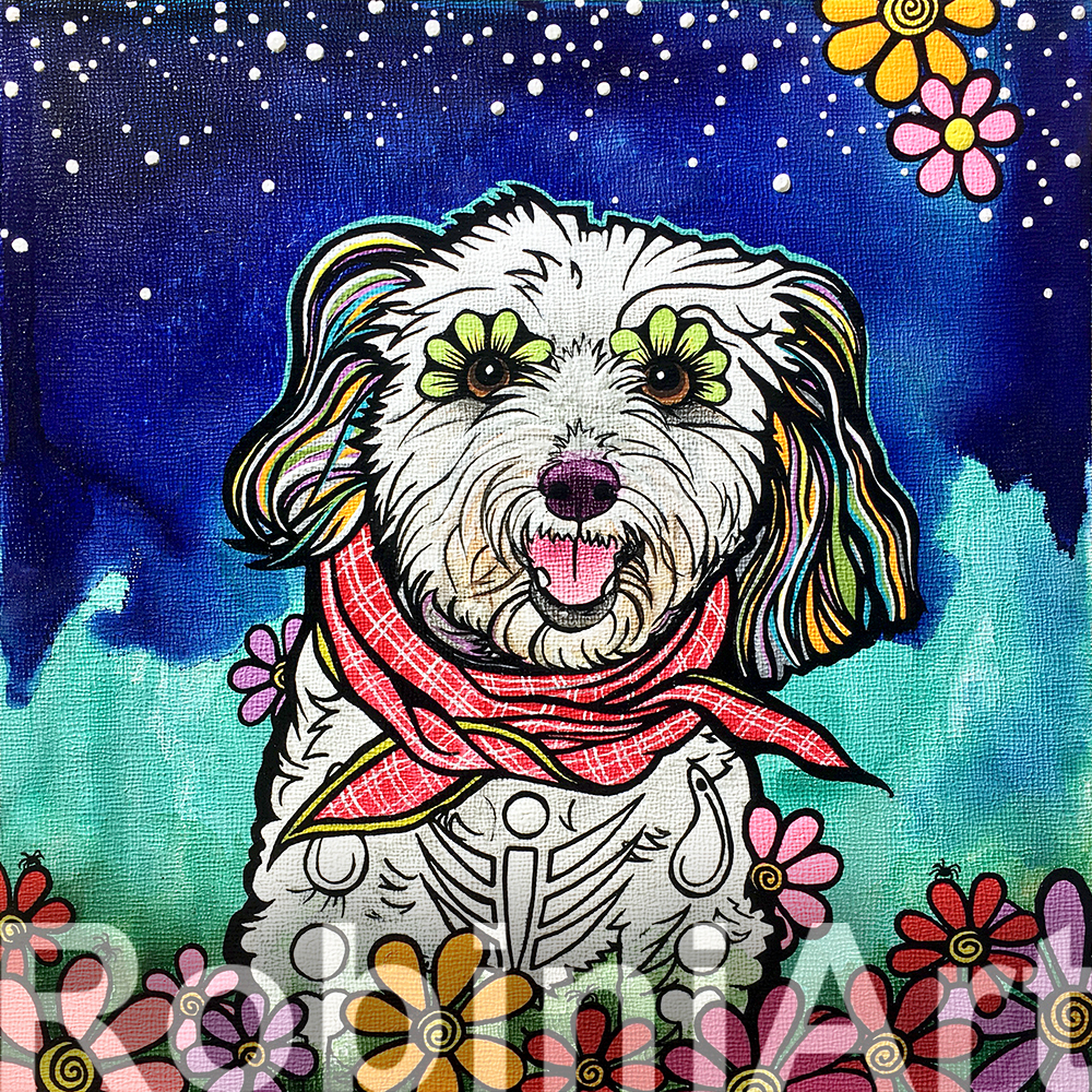 RobiniArt Maltipoo Pet Portrait 2018
