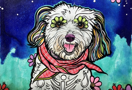 RobiniArt Maltipoo Pet Portrait 2018