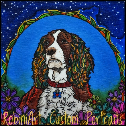 Springer Spaniel Painting by RobiniArt