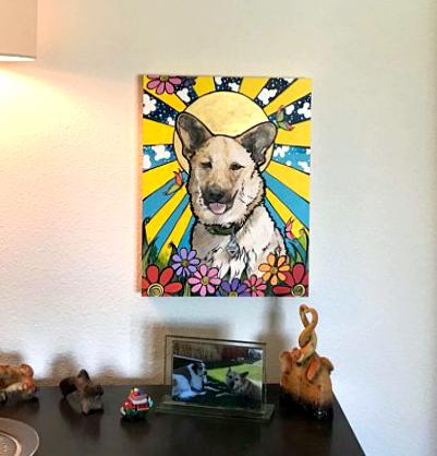 RobiniArt Custom Pet Portrait
