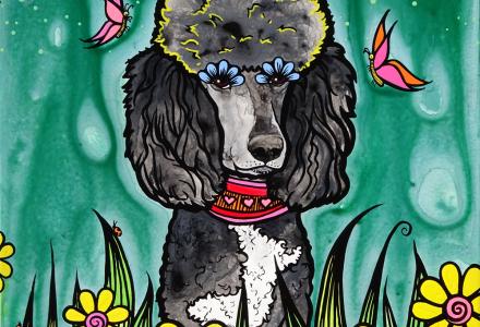 Poodle-Art-RobiniArt-Lady-Gaga