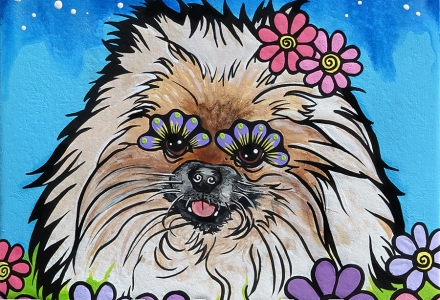 Pomerania Pet Portrait by RobiniArt