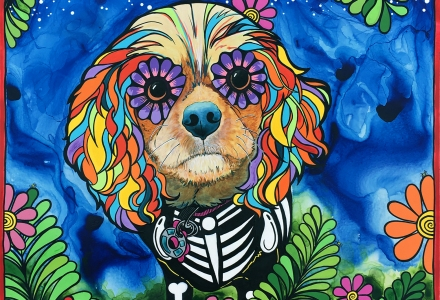 Cavalier King Charles Spaniel by RobiniArt
