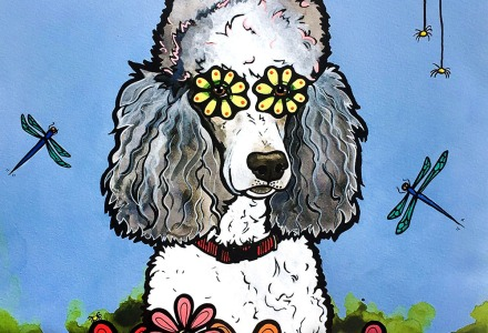 Poodle Painting by RobiniArt